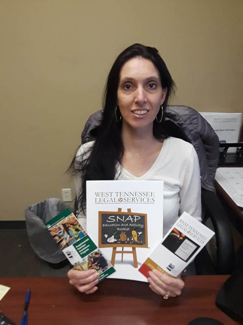 WTLS Staff Member with SNAP Brochures